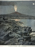 Mount Etna Erupting, Artwork Photographic Print by CCI Archives