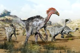 Therizinosaurus Dinosuars Photographic Print by Jose Antonio