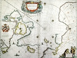 Arctic, 17th Century Map Photo by CCI Archives