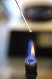 Sterilising a Loop with a Bunsen Burner Photographic Print by Doncaster and Bassetlaw