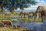 Mammals of the Miocene Era, Artwork Photographic Print by Mauricio Anton