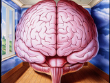 Artwork of Human Brain Enclosed In Dream-like Room Posters by John Bavosi