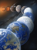 Formation of the Earth, Artwork Print by Richard Bizley