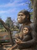 Australopithecus Afarensis, Artwork Print by Mauricio Anton