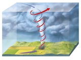 Tornado Dynamics, 3D Artwork Photographic Print by Gary Gastrolab