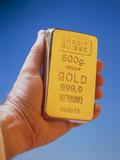 500g Ingot of Pure Gold Fotografisk tryk af Tony Craddock