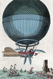 English Channel Balloon Crossing, 1785 Photographic Print by Library of Congress