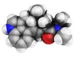 LSD Drug Molecule Fotografisk tryk af Laguna Design