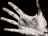 View of An Open Hand Palm-up Photographic Print by  Cristina