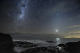 Milky Way Over Cape Schanck, Australia Posters by Alex Cherney