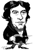 Michael Faraday, Caricature Photographic Print by Gary Brown
