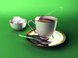 Cup of Tea And Bowl of Sugar, Artwork Poster von Christian Darkin