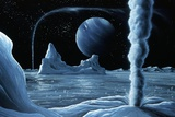 Ice Volcanoes on Triton, Artwork Prints by Richard Bizley