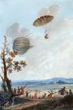 First Parachute Descent, 1797 Reprodukcja zdjęcia autor Library of Congress