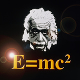 Computer Artwork of Albert Einstein And E=mc2 Reproduction photographique par Laguna Design