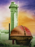 False-col Photo of Sellafield Nuclear Power Plant Photographic Print by Dr. Jeremy Burgess