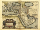 Ortelius's Mapa del Imperio Otomano, 1570 Lámina fotográfica por Library of Congress