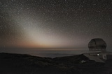 GranTeCan Telescope And Zodiacal Light Photographic Print by Alex Cherney