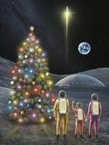 Christmas on the Moon, Space Art Photographic Print by Richard Bizley