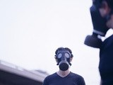 Gas Masks Photographic Print by  Cristina