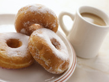 Coffee And Doughnuts Premium Photographic Print by Erika Craddock