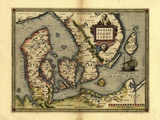 Ortelius's Map of Denmark, 1570 Posters by Library of Congress