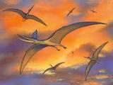 Pterosaur Flying Reptiles, Artwork Photographic Print by Richard Bizley