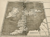 Ptolemy's Map of Britain, 16th Century Photographic Print by Library of Congress