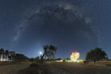 Milky Way Over Parkes Observatory Prints by Alex Cherney