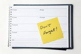 Diary Reminder, Post-it Note Photographic Print by Victor De Schwanberg