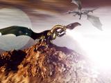 Dragons Affiche par Christian Darkin