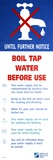 Tap Water Warning Sign Photographic Print by Victor De Schwanberg