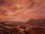 Artist's Impression of Surface of Titan Premium Photographic Print by Chris Butler