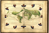 Magellan's Route, 16th Century Map Prints by Library of Congress