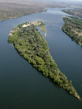 Island on the Zambezi River Photographic Print by Tony Camacho
