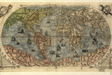 16th Century World Map Fotografisk tryk af Library of Congress