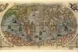 16. Jahrhundert, antike Weltkarte Fotodruck von Library of Congress
