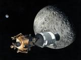 Apollo Spacecraft At the Moon, Artwork Photographic Print by Richard Bizley