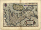 16th Century Map of the British Isles Photographic Print by Library of Congress