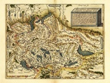 Ortelius's Map of Switzerland, 1570 Prints by Library of Congress