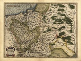 Ortelius's Map of Poland, 1570 Posters by Library of Congress