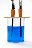 Electrolysis of Copper Sulphate Photographic Print by Trevor Clifford