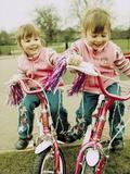 Identical Twin Girls Posters van Ian Boddy