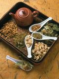 Assortment of Herbal Teas on a Tray Kunstdruck von Erika Craddock