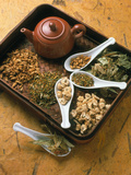 Assortment of Herbal Teas on a Tray Photographic Print by Erika Craddock