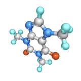 Caffeine Drug Molecule Fotografie-Druck von Laguna Design