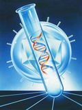 Viral DNA Research Photographic Print by John Bavosi