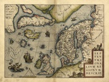 Ortelius's Map of Northern Europe, 1570 Print by Library of Congress