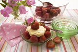Strawberries And Cream Photographic Print by Erika Craddock