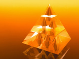 Abstract Computer Artwork of a Pyramid of Arrows Photo by Laguna Design